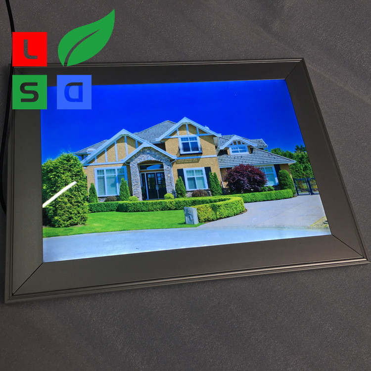 Square LED Snap Frame Box Easily Change Poster Backlit Picture Frame Box